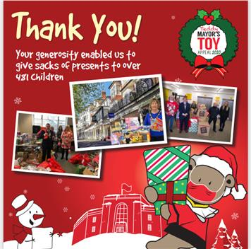 - Teddy Mayor's Toy Appeal - a big thank you
